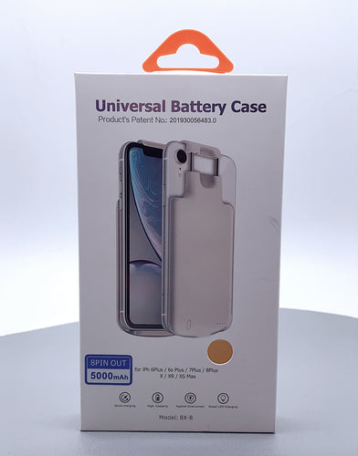 Universal battery case 5000 mah for iP 6s- iP xsmax 6.5 8X-8