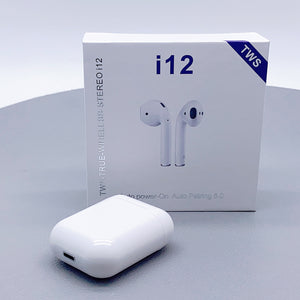 i12 TWS-TRUE wireless bluetooth stereo airpods earphone