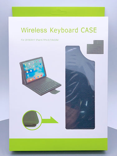 ipad new 9.7 magnetic wireless bluetooth keyboard pouch case (9.7 /air 1/2 fit)