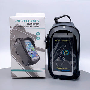Ultra sensitive touch screen bicycle bag
