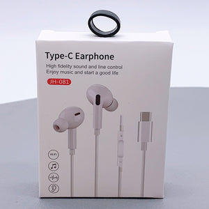 Type-C earphone with control JH-081