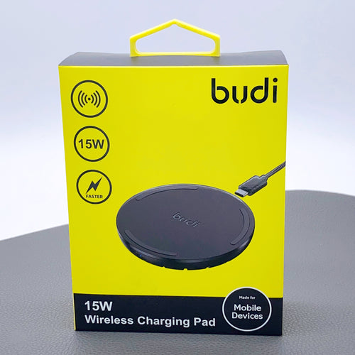 Budi 15W quick wireless charging pad charger 3600