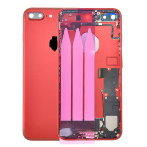 IPHONE 7PLUS BACK HOUSING WITH SMALL PARTS RED