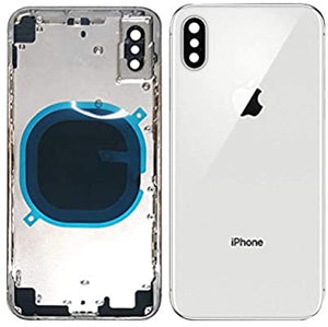 IPHONE X BACK HOUSING WITHOUT PARTS WHITE