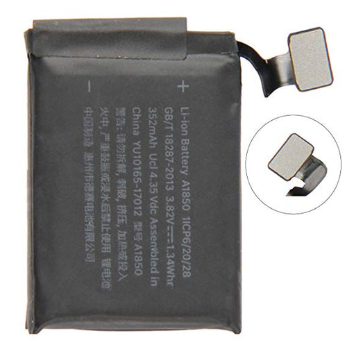 iWATCH SERIALS 3 CELLULAR 42MM A1850 BATTERY