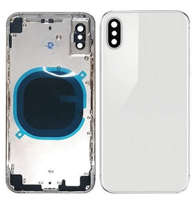 IPHONE XS BACK HOUSING WITHOUT PARTS WHITE (HIGH QUALITY)