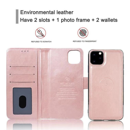 iPhone 12/ iPhone 12 Pro 6.1 Wetherby ( Calfskin ) handmade magnetic case with strap