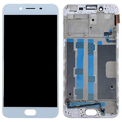 OPPO R9S SCREEN WITH FRAME WHITE