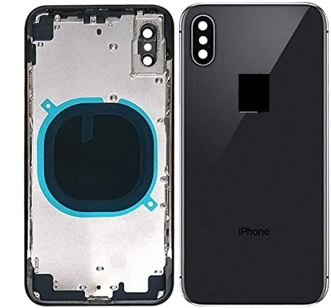 IPHONE X BACK HOUSING WITHOUT PARTS BLACK