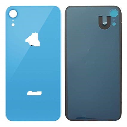 IPHONE XR BACK GLASS COVER BLUE (BIG HOLE)