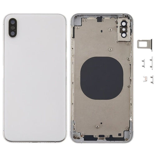 IPHONE XS MAX BACK HOUSING WITHOUT PARTS WHITE (HIGH QUALITY)
