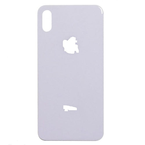 IPHONE X BACK GLASS WHITE (BIG HOLE)