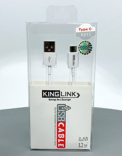 Kinglink KL 2.4A faster 1M type c cable K013