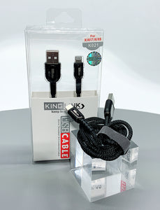 Kinglink KL 2.4A faster 1M ip7 fabric lightning cable K021