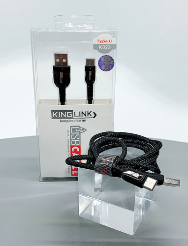 Kinglink KL 2.4A faster 1M type c fabric cable K023