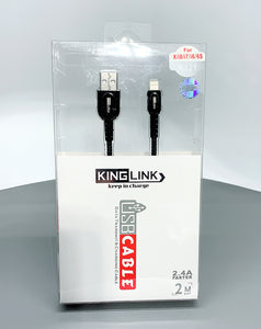 Kinglink KL 2.4A faster 2M ip7 fabric lightning cable K121