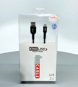 Kinglink KL 2.4A faster 2M micro fabric cable K122