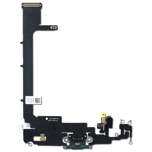 IPHONE 11PRO MAX CHARGING PORT FLEX WITH BOARD SOLDERING BLACK (ORIGINAL BRAND NEW)