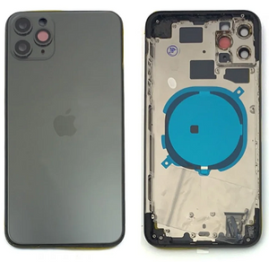 IPHONE 11PRO MAX BACK HOUSING WITHOUT PARTS BLACK