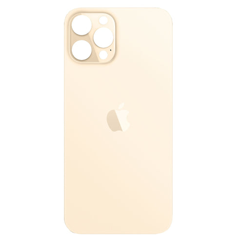 IPHONE 12PRO MAX BACK GLASS GOLD (BIG HOLE)