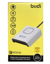 budi qi quick charger with 3 usb charging station au plug