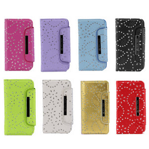 iphone i7/8 diamond magnetic wallet case