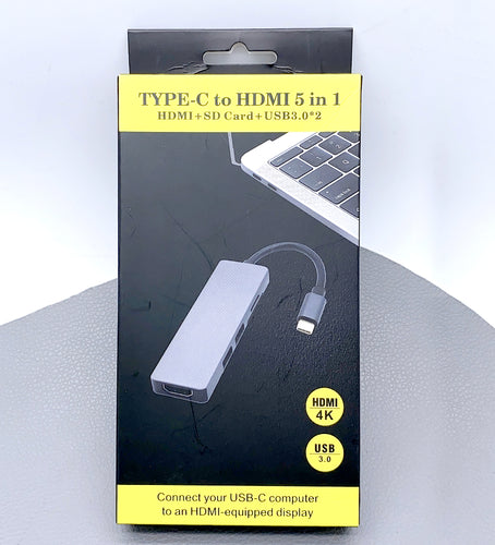 Type-C to hdmi adapter 5 in 1