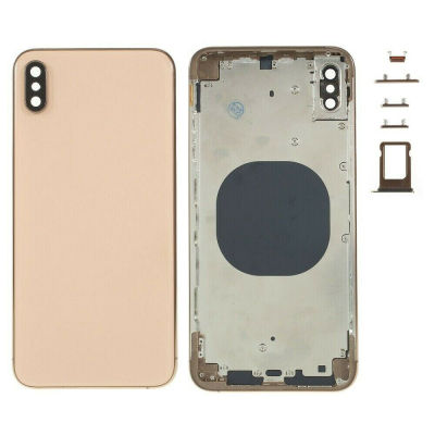 IPHONE XS MAX BACK HOUSING WITHOUT PARTS GOLD (HIGH QUALITY)