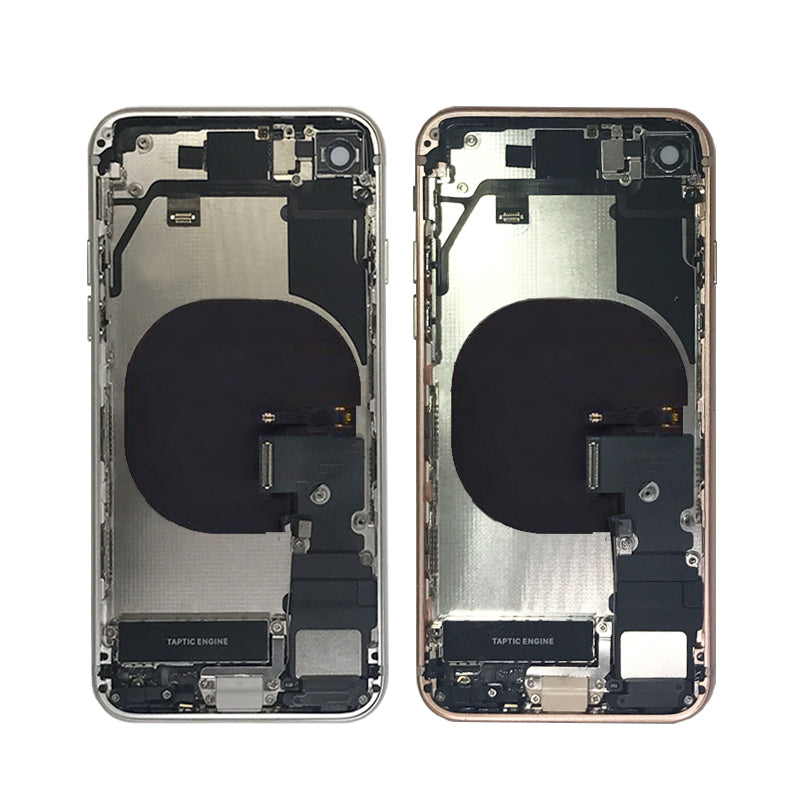IPHONE 8G BACK HOUSING WITH SMALL PARTS WHITE