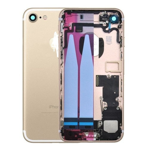 IPHONE 7PLUS BACK HOUSING WITH SMALL PARTS GOLD