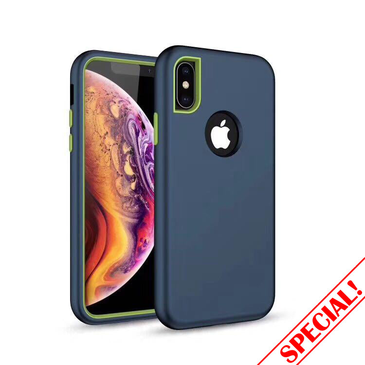 iphone i7/8+ plus hybrid 3 in 1 full protection case
