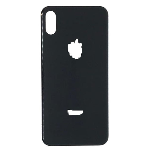 IPHONE X BACK GLASS BLACK (BIG HOLE)