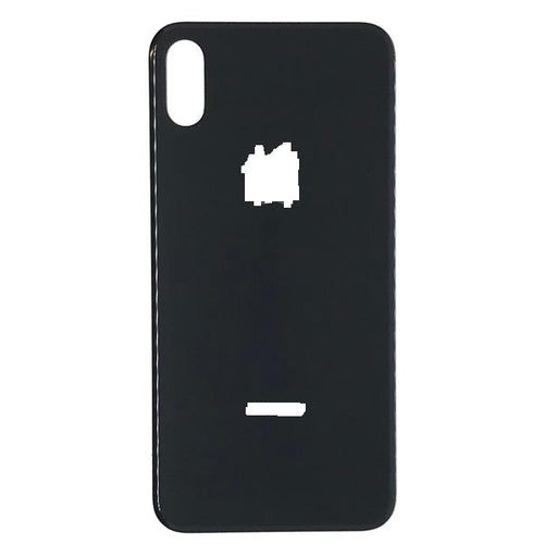 IPHONE XS MAX BACK GLASS COVER BLACK (BIG HOLE)
