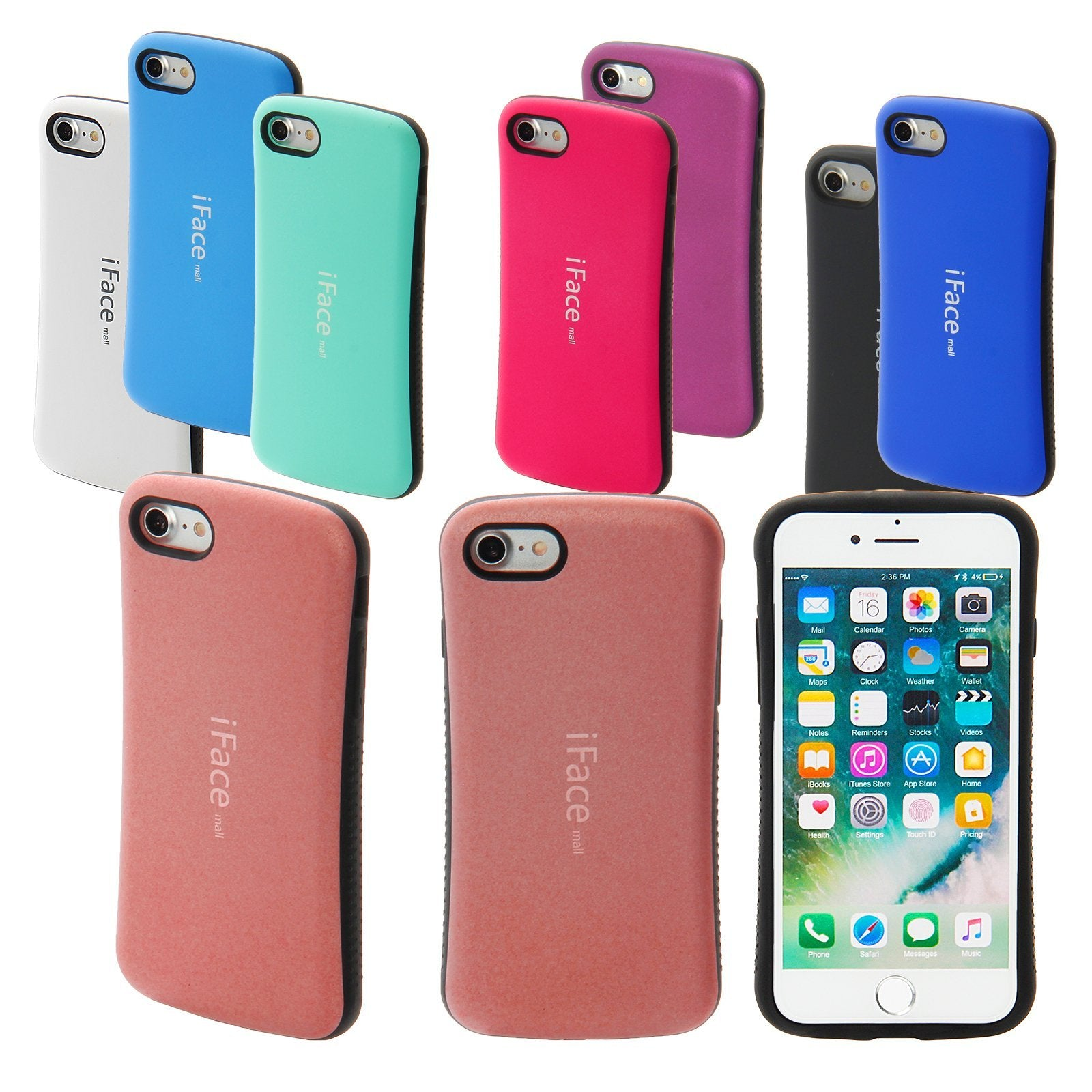 the best attitude 04f12 6418d iphone i5 Matte iface case