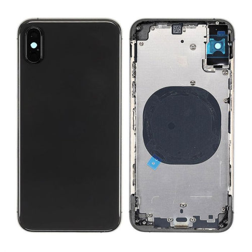 IPHONE XS MAX BACK HOUSING WITHOUT PARTS BLACK (HIGH QUALITY)
