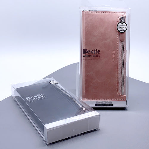 iPhone 12/ iPhone 12 Pro 6.1 molan cano bestie zip diary case