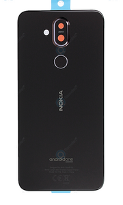 NOKIA 8.1 BACK GLASS BLACK (ORIGINAL)