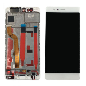 HUAWEI/P9 LCD SCREEN WITH FRAME WHITE