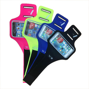 Running sport phone armband with key and headphone slot
