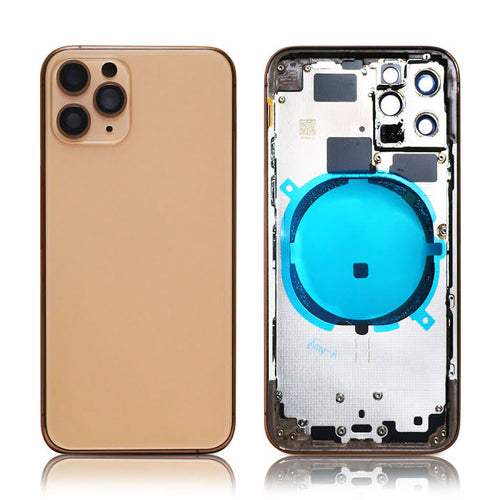 IPHONE 11PRO MAX BACK HOUSING WITHOUT PARTS GOLD