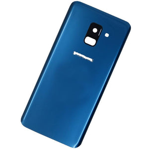 SAMSUNG A8(2018) BACK GLASS COVER BLUE