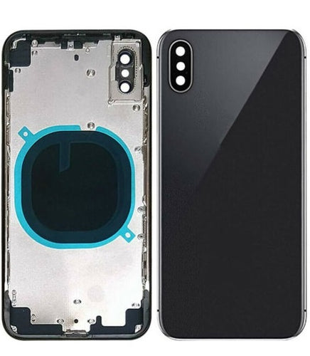 IPHONE XS BACK HOUSING WITHOUT PARTS BLACK (HIGH QUALITY)
