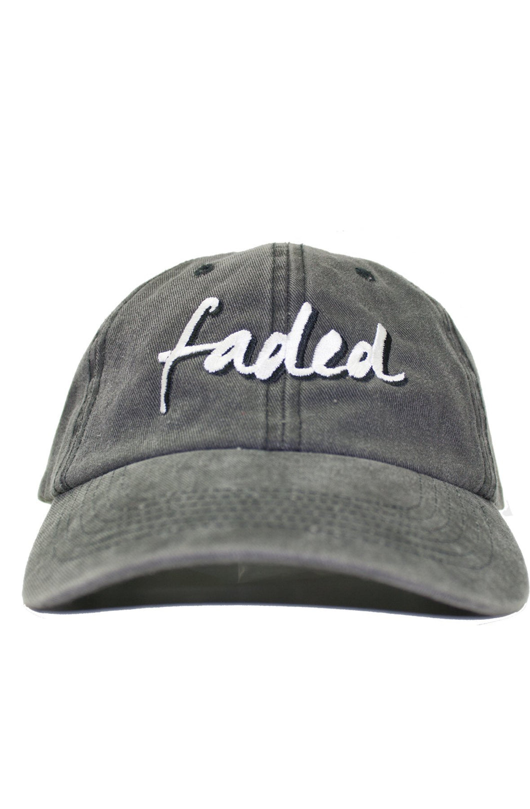 FADED BLACK DENIM DAD HAT