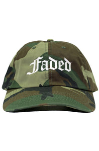 FADED OLD E CAMO DAD HAT