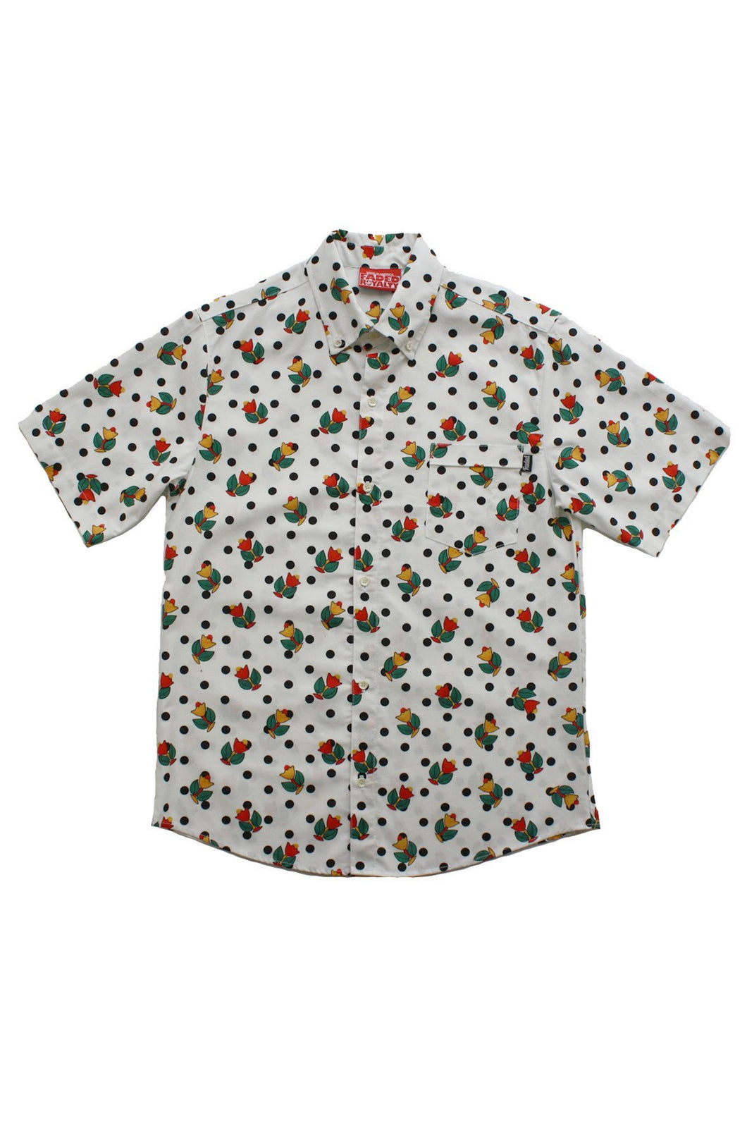 FLORAL DOTS BUTTON DOWN