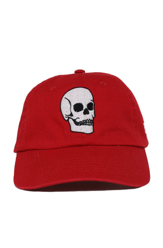 FADED SKULL RED DAD HAT