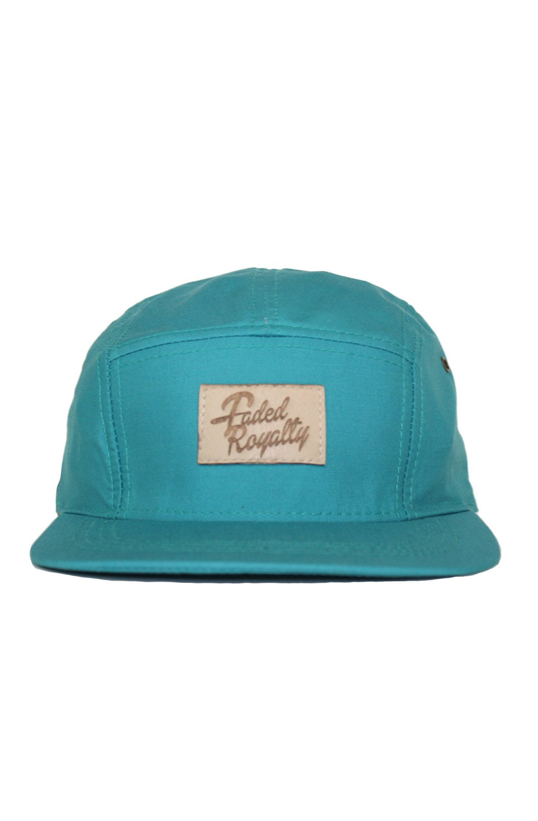 TEAL LEATHER 5 PANEL