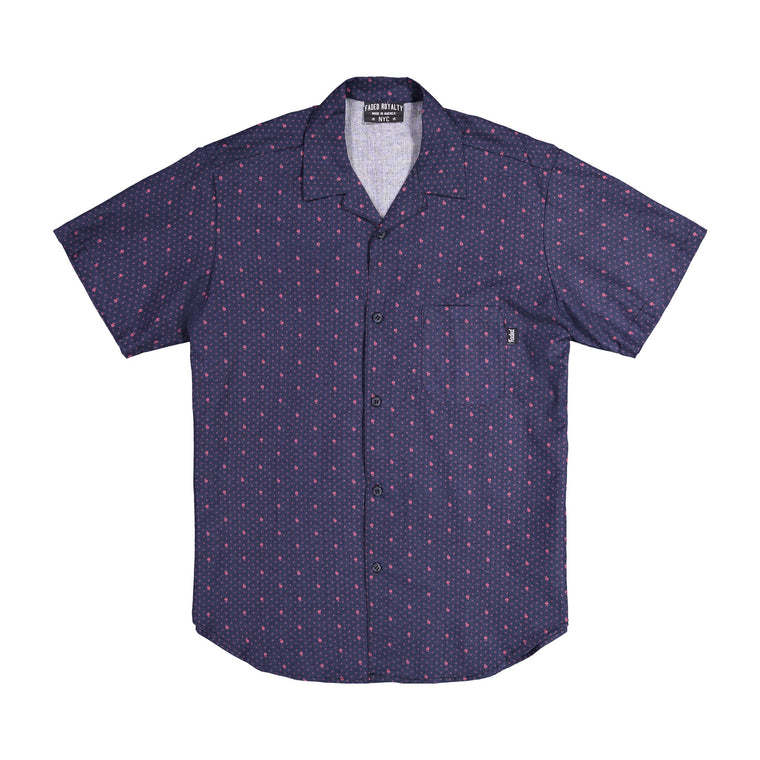 Short Sleeve Button Up BUTTON DOWNS FADED ROYALTY