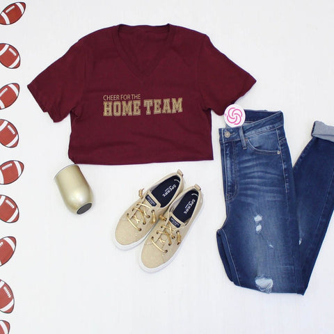 Cheer For The Home Team - Burgundy