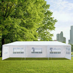10'x30' Canopy Outdoor Wedding Party Tent Gazebo Pavilion With 8 Walls